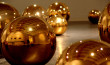 Gold Balls,Porcelain Gold Plated,variable sizes
