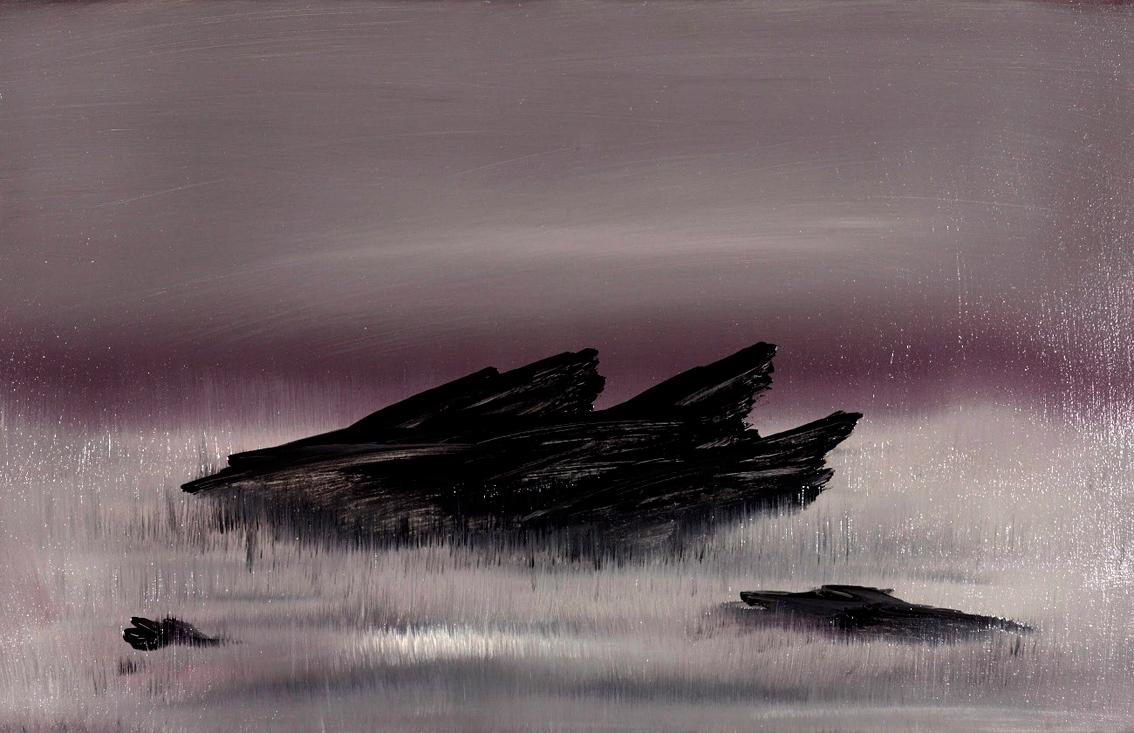 Dark rock,Oil on Canvas,120x80cm,2014